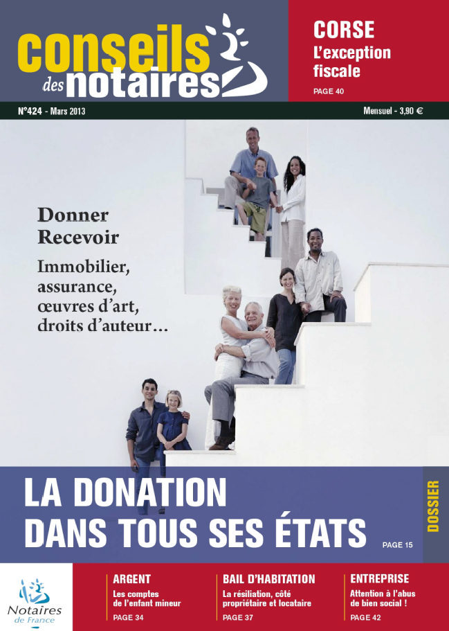 Conseils des Notaires N°424 Mars 2013