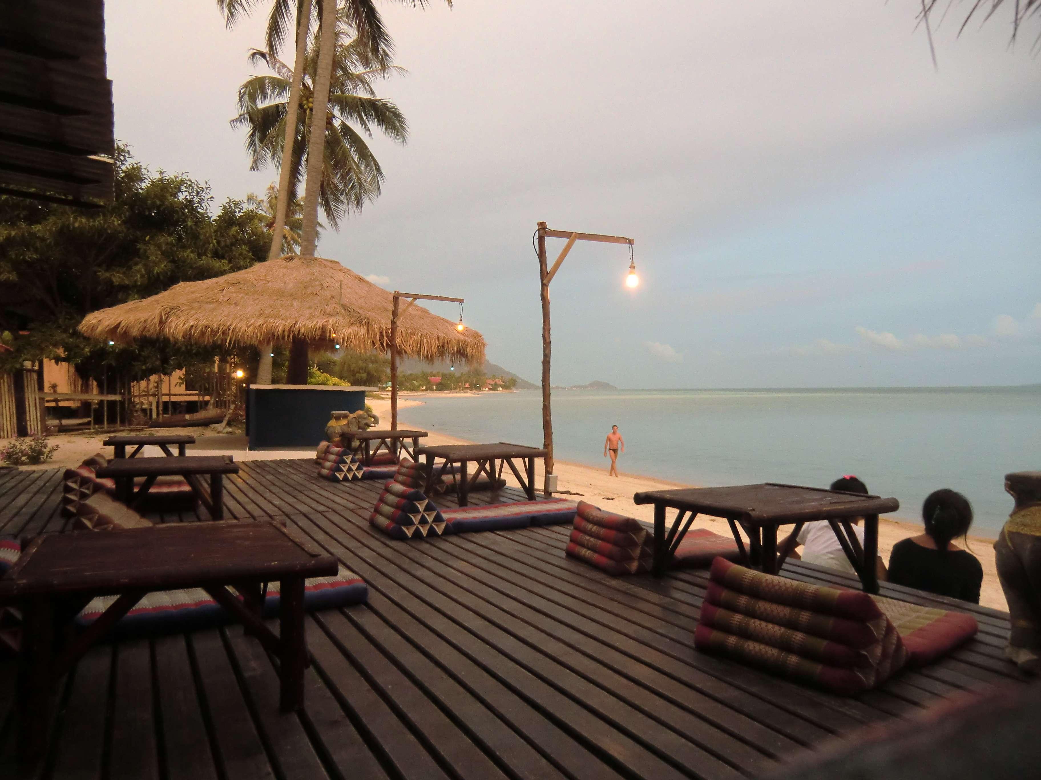 Abendstimmung im Resort