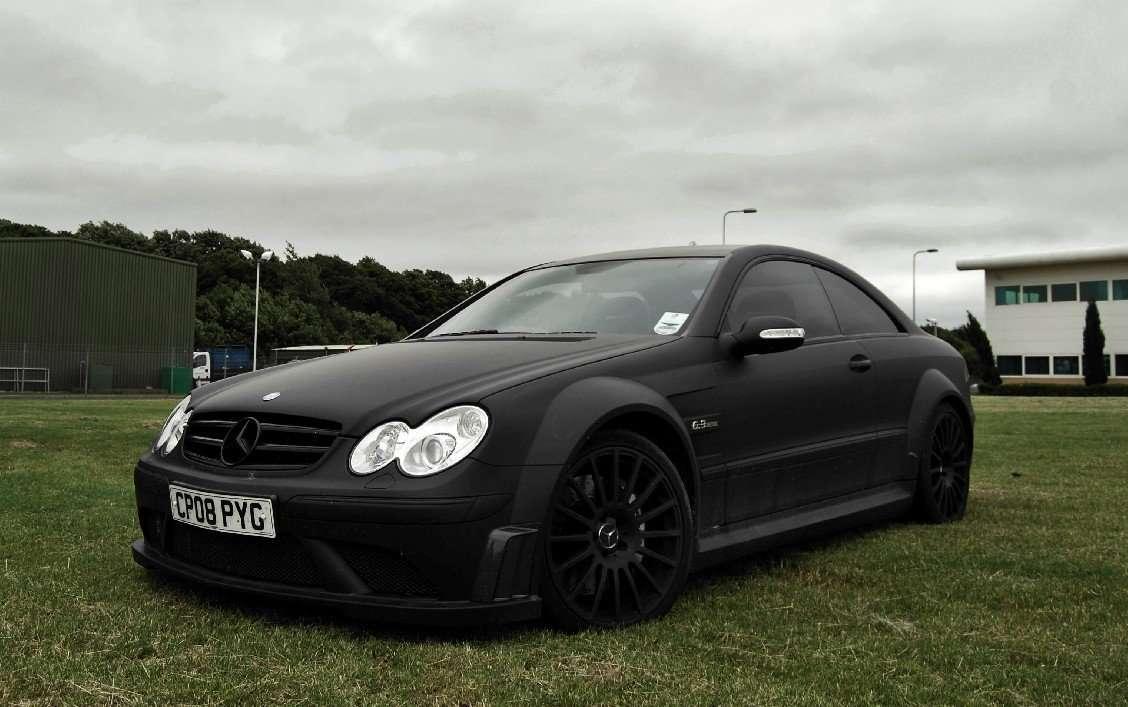 Mercedes benz clk 63 black series matte black used for Mercedes benz black on black