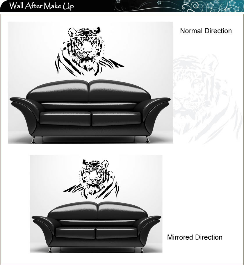 Tiger Cat Vinyl Art Wall Stickers / Wall Decals