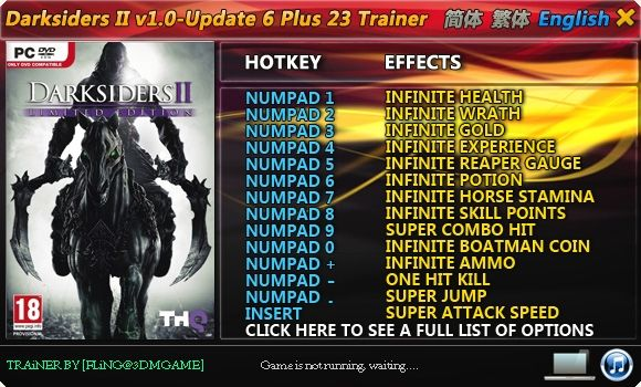Darksiders II v1.0-Update 6 +23 Trainer [FliNG]