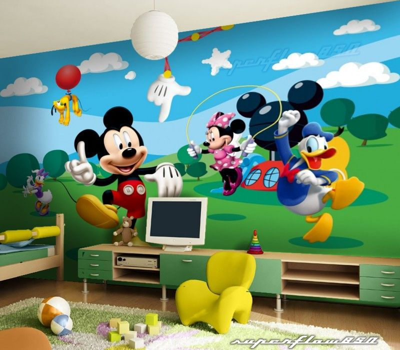 Mickey mouse disney photo wallpaper wall mural - Mickey mouse clubhouse bedroom decor ...