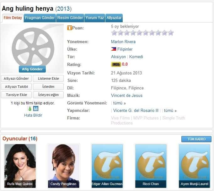Ang Huling Henya - 2013 DVDRip x264 - Türkçe Altyazılı Tek Link indir